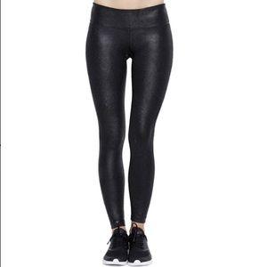 New VIMMIA Black Metallic Faux Leather Leggings